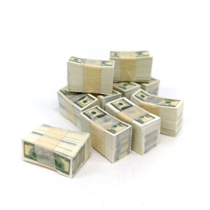 Pocket-size paper money A bundle Miniature Play Money US $100   $1Banknotes Dollhouse Toy Accessories Shooting props