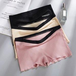 Shorts segurança Calças sem costura Tópico Mid cintura Calcinhas Anti esvaziado boyshorts Cueca Meninas emagrecimento Roupa interior