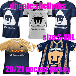 20 21 UNAM Soccer Jersey Home Uniform Uniform 2020 2021 Away Camicie da calcio Camiseta de Fútbol Mexico Club Jersey
