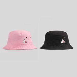 FR2 Rabbits Fisherman Bucket Hat For Women Men Fishing Cap Bob Panama Summer Fashion Pink Designer Sun Hats Harajuku Hip Hop Hunting Outdoor