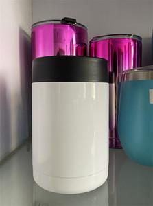Double Wall 12 onças sublimação refrigerador Vacuum pode refrigerador transferência térmica Coolers aço inoxidável Tumbler Copa do isolamento A02