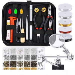 Jewelry Making Supplies Wire Wrapping Kit with Jewelry Beading Tools, Wire, Helping Hands, Findings and Pendants
