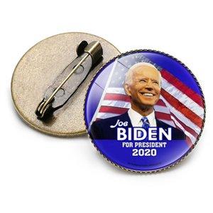 Özel Popüler 25 * 25mm Metal Cam Biden Cumhurbaşkanlığı Seçim Yeniden kullanılabilir broş Teneke rozeti In Stok DHL Ücretsiz Kargo