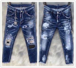 marchio italiano mens jeans skinny jeans classico 2020 uomini di alta qualità di nuovo modo di marca dei jeans pantaloni da biker di alta qualità della moda maschile