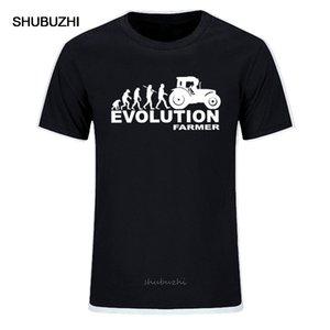 Verão fazendeiro Evolução dos homens T Farming tractor Fendt Claas Machinery Curto Impressão Moda T-shirt da luva Tamanho UE