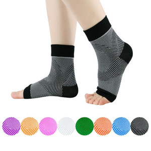 Supporto della caviglia del piede Angolo Anti Fatica compressione piede manica esecuzione del ciclo di pallacanestro Sport Calze esterno degli uomini Ankle Brace Sock