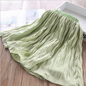 Girl's Pleated Skirts Summer Baby Girl Solid Color Tutu Skirt Kids Clothing Wholesale LIBV#