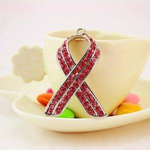 Sac International Aids signe symbole cool ruban rouge cristal Teaching Aids Keychain Lady Accessoires Keychain Petit cadeau de passe Gérer jaC4 #