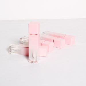 Commercio all'ingrosso Lipgloss Trucco Packaging Rosa bottiglie vuote Lip Gloss tubi quadrati Lip Gloss Lipgloss riutilizzabili contenitore di imballaggio