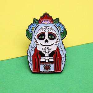 New Horror Ведьмы Old Lady Броши Ювелирные изделия Scary Женщина Черный Темно Эмаль Pins Модный Творческий мультфильм моды Друг партии Хэллоуин подарки