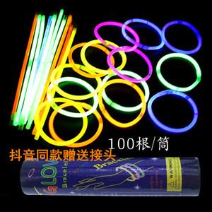 lueur jouets bâton avec Tik Tok même style Sept couleurs Light Emitting jouets 2020 bâton vendre don de l'enfant