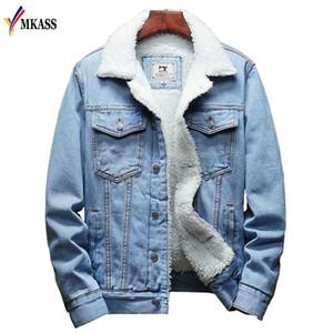 MKASS Men Jacket And Coat Trendy Warm Fleece Denim Jacket 2020 Winter Fashion Mens Jean Jacket Outwear Male Cowboy Plus Size 6XL X0923 X0923