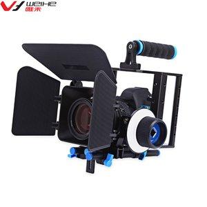 Mat Kutu için Sony Nikon Canon DSLR fotoğraf makinesi Video Kamera ile toptan Alüminyum Alaşım Film Video Kamera Kafes Takip Odak Kiti