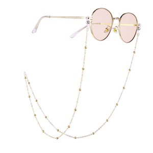 Fashion Round Beaded Glasses Chain Eyeglass Lanyard Women Sunglasses Chain Eyewears Cord Neck Strap Rope Glasses Accessories