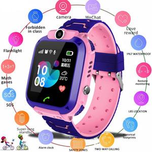 Relógio inteligente SOS Phone Watch Smartwatch Por do Q12 das crianças das crianças com Sim Card Foto Waterproof IP67 caçoa o presente para iOS Android