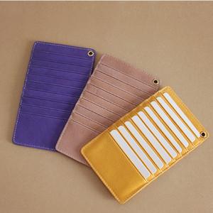 SIKU genuine leather men's card holder famous female brand card case