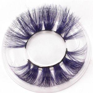 17styles 25mm Colored 5D Mink False Eyelashes Thick Eyelashes Luxury Colorful Natural Cosplay Imitated Mink Thin Eyelashes