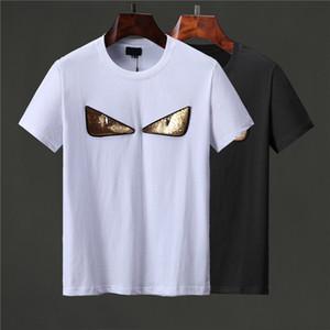 20SS Signature T-shirt Paris l'Europe Broderie Imprimer Lettre Mode Homme T-shirts Casual Hommes Femmes Vêtements Coton T Hauts FG9571