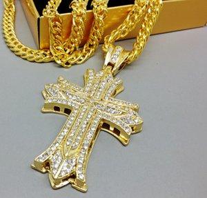 Marea Hip Hop collana di diamanti INS Elegante Croce due ciondoli Sport Fitness collane per Locale notturno Party