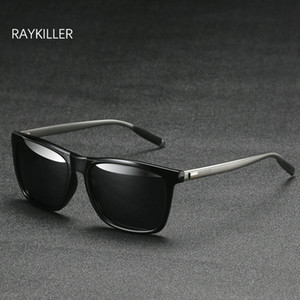 RAYKILLER Square Sunglasses mens Polarized Mirrored lens Glasses UV400 Outdoor Eyewear For Women Driving with Case