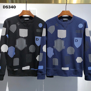 DSQ PHANTOM TURTLE Hoody New Mens Designer Hoodies Italy fashion Sweatshirts Autumn Print DSQ Hoodie Male Top Quality 100% Cotton Tops 01210
