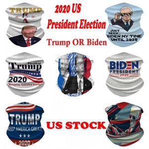 US STOCK, 2020 President Election Biden Trump Magic Sports Masks Bandana Skull Scarf 3D Print Masks DHL Shipping