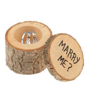 Wedding Ring Bearer Box di legno fai da te boxex Carino piccolo regalo Box Novel Holiaday partito regalo WY439