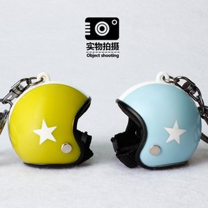 Creative Motorcycle Safety Helmets Car Five-star Keychain Pendant Classic Keyring Holder Car Accessories