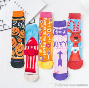 Female Hosiery Halloween Womens Stockings Casual Long Pumpkin Deer Printed Christmas Ladies Socks Fashion