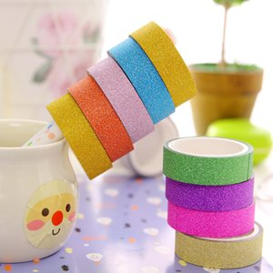 10Rolls Lot Hot Sale DIY Washi Tape Candy Color Scrapbooking Adhesive Paper Sticker Masking Tape Decorative Tapes