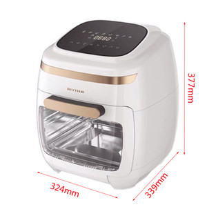 High quality 11L multifunctional intelligent visual air fryer oven healthy food fryer oven barbecue machine smart touch LCD electric fryer