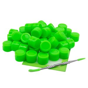 2ml Silicone Containers Wax dabber tool big silicone pad mat Dab jars Container dab tool kits for wax bong dab rigs smoking pipes