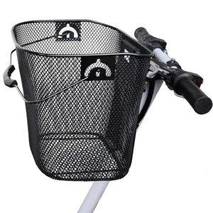 Металлическая сетка Корзина для Mtb Горный велосипед Велоспорт Передний Складная Basket езда сзади Pannier Quick Release Покупки Ручка