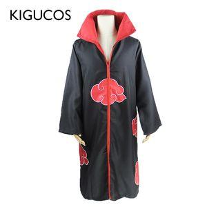 KIGUCOS Large Size Anime Naruto Cosplay Costumes for Men Women Uniform Uchiha Itachi Cloak Akatsuki Costumes Party Cape Outfit CX200817