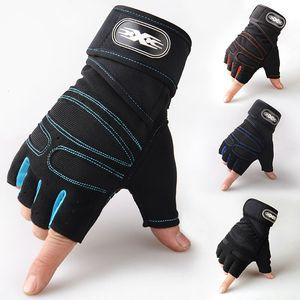 Mezza Finger Gloves Gym Heavyweight Sport Esercizio sollevamento pesi Guanti Bodybuilding fitness per gli uomini