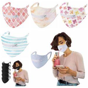 New Designs 5 cores de secagem rápida Sunscreen Zipper Máscara ultra-fino respirável malha Single-layer Ciclismo anti-UV máscaras lavável