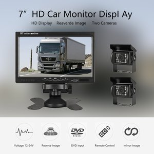 7 Inch Wired Car monitor TFT LCD Rear View Camera Two Track rear Camera Monitor For Truck Bus Parking view System