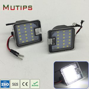 Mutips 1Set Car LED Side Mirror Lights 12V For Focus C-Max Kuga Escape Mondeo Rear Under Mirror Lamp Bulb Kit accessories