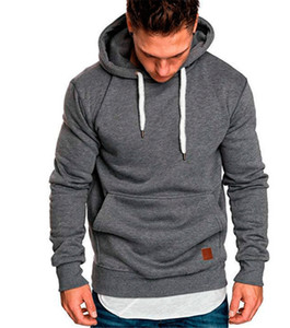 Plus Size Mens Hoodie Solid Color Winter Autumn Slim Long Sleeve Hooded Sweatshirts Casual Designer Homme Clothing