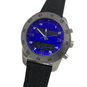 전문 남성 시계 다기능 전자 석영 운동 듀얼 타임 존 디스플레이 orologio 디 Lusso를 손목 시계 크로노 그래프 시계