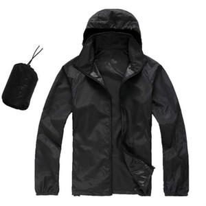 bateau libre d'été Femmes Hommes Brand Rain Jacket Coats Outdoor Casual Sweats à capuche et coupe-vent imperméable crème solaire Face Manteaux Noir Blanc XS-XXXL