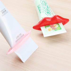 다기능 치약 스 퀴저 도매 섹시한 핫 립 키스 욕실 튜브 디스펜서 착취 홈 튜브 롤링 홀더 착취 BC BH0709