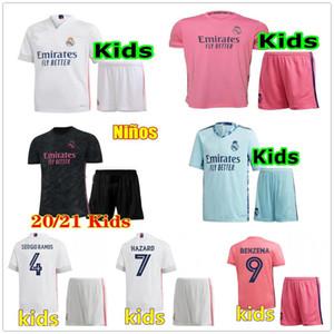 20 21 REAL MADRID scherzt Fußball Jerseys GEFAHR SERGIO RAMOS BENZEMA VINICIUS camiseta Fußballhemd Uniformen Jugend Jungen Assemblies 2020 2021