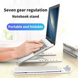 Liga de alumínio Titular Laptop dobrável Titular Notebook para MacBook Lenovo HP Lapdesk Computer altura ajustável de resfriamento Bracket