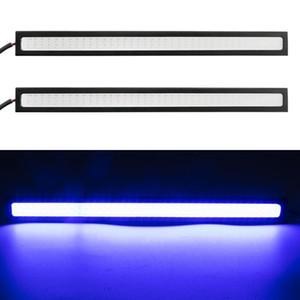 Автомобиль стилизации Ultra Bright 12W LED Двойной дневного света DC 12V 17.5cm водонепроницаемый Авто DRL COB Вождение Противотуманные фары