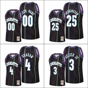 CarlottaHornetsUomini Terry Rozier III Devonte' Graham P.J. WashingtonMaglia nera personalizzato NBA 2020 Ricarica Classic