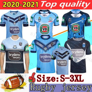Mens 2020 2021 NSW Blues Home Pro Jersey NSW Состояние происхождения регби трикотаж 18 19 20 Южный Уэльс регби Джерси