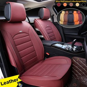 Universal Car Leather Seat Cover Cushion Set 5 Layers PU Leather Wear-resistant Breathable Auto Seat Protector