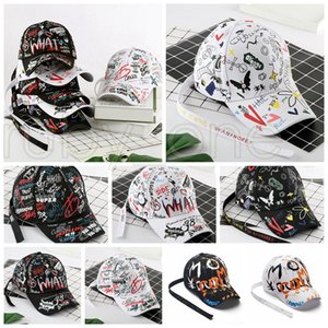 Граффити печати Бейсболка Мода Открытый граффити Хип-хоп шапки Спортивные Snapback Hip Hop Party Шляпы Поставка 8styles RRA3473