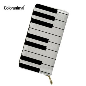 Coloranimal Fashion Men Wallet 3D Piano with Music Note Pattern Men's Purse Casual Card Holder Women Handags Cluth Money Cases